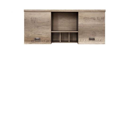 Шкаф навесной  Malcolm SFW2D дуб каньон монумент с печатью