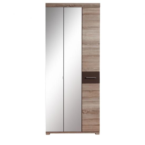 Шкаф трехстворчатый  Homeline, SZF2M1D/20/8, дуб сонома темный/темно-коричневый  блеск