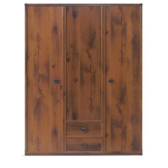 Шкаф трехстворчатый Indiana  jszf 3d2s, дуб саттер