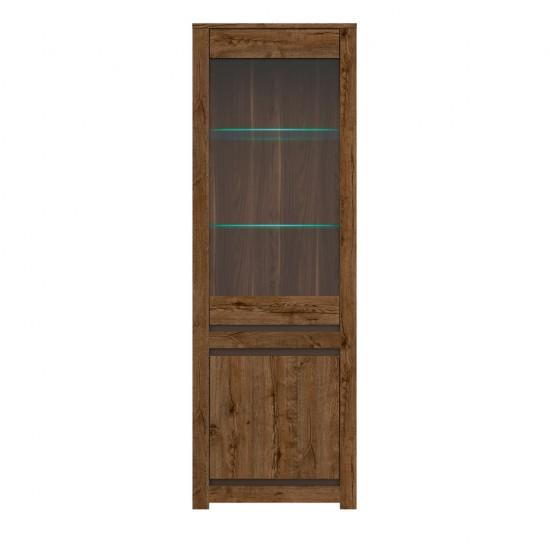 Шкаф-витрина с подсветкой Kada  S404-REG1W1D, дуб April