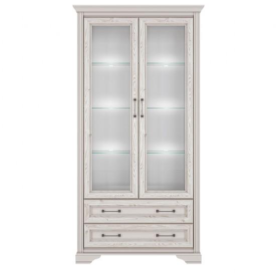Шкаф-витрина Stylius REG2W2S с подсветкой, лиственица сибирская