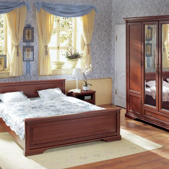 Кровать двуспальная Stylius с металлическим основанием nloz 160,черешня античная