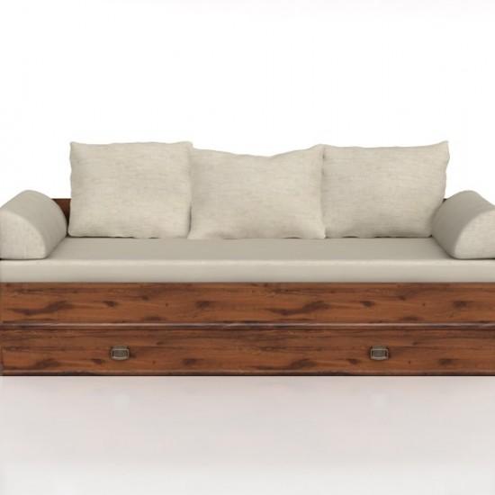Тахта-кровать раскладная Indiana  jloz 80/160 с матрасом и подушками,дуб саттер