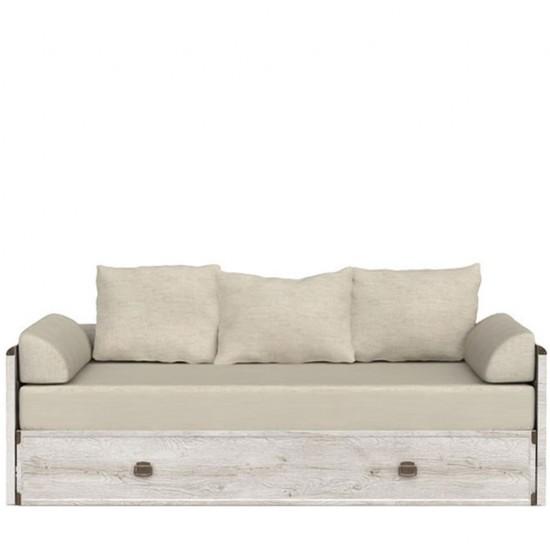 Тахта-кровать раскладная Indiana  jloz 80/160 с матрасом и подушками,сосна каньон